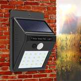 3pcs Solar Power 20 LED PIR Motion Sensor Wall Light Waterproof  Outdoor Path Yard Garden Security Lamp