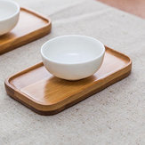 Rectangle Bamboo Scald Proof Tea Cup Holder Coaster Kungfu Tea Accessaries
