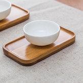 Support de tasse à thé en bambou anti-échaudures Rectangle Dessous de verre Kungfu Accessoires