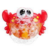Adorabile Bubble Bubble Machine Music Bubble Maker Bagno Baby Bath Shower Fun Giocattoli di plastica rossi