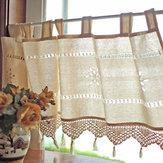 カントリースタイルフランスコットンリネン刺繍カフェカーテンホームキッチンカーテン