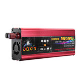 DOXIN® Power Inverter 4000W Peak Modified Sine Wave Converter DC 12V/24V To AC 220V USB Plug Port