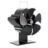 1350Rpm Pro 5 Leaves Stove Fan Heat Powered Motor Energy Saving Fireplace EcoFan