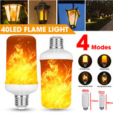 E27 3W LED Flame Effect Fire Light Bulb Gravity Sensor Lamp Party Home Decoration AC85-265V