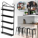 Riceve la disposizione del bagno della famiglia dello scaffale della cucina di stoccaggio del ferro battuto a cinque strati per il salotto