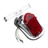 Motorrad Rücklichter Bremslicht Bremsleuchte Kennzeichenhalterung Für Chopper Cafe Race