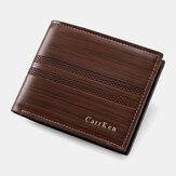 محفظة جلد صناعي للرجال بطاقة