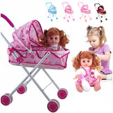 Baby Doll Stroller Folding Doll Trolley Children Walker Toys
