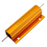 5pcs RX24 100W 8R 8RJ Metal Aluminum Case High Power Resistor Golden Metal Shell Case Heatsink Resistance Resistor