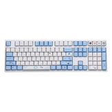 108/130 Keys Technology Frontier Keycap Set Cherry Profile PBT Sublimation Keycaps for Mechanical Keyboard