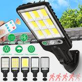 LED Solar Duvar Lambası 3 Modlu Hareket Sensör Işık Kontrolü IP65 Su Geçirmez Yard Bahçe Park Lamba