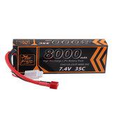 ZOP Poder 7.4 V 8000 mAh 35C 2S2P Lipo Bateria T Plug para RC Car RC avião