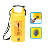 AFISHTOUR 5L Outdoor Waterproof Dry Backpack Water Floating Bag Roll Top Sack for Kayaking Boating Trekking Swimming