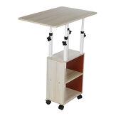 Pohyblivý noční stolek Jednoduchý malý stůl Ložnice Domů Jednoduchý studentský zvedací kolej pro domácí kancelář