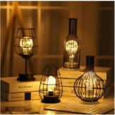 Retro Table Lamps Bedroom Living Room LED Bedside Light Modern Art  Bed Lamp Night Light Office Desktop Decoration Christmas Decorations Clearance Christmas Lights
