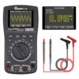 MUSTOOL MT8208 HD Intelligent grafisk digitalt oscilloskop Multimeter 2 i 1 med 2,4 tommer Farveskærm 1MHz båndbredde 2,5Msps prøveudtagningshastighed til DIY og elektronisk test opgraderet fra MT8206