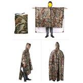 3-w-1wielofunkcyjnypłaszczprzeciwdeszczowyponchokamuflaż osłona przeciwdeszczowa markiza namiot Rainning odzież