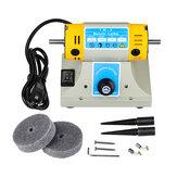 US / EU 350 W Verstelbare Snelheid Mini Polijstmachine Voor Dental Sieraden Motor Draaibank Bench Grinder Kit