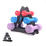 3-Tier Dumbbell Storage Rack Stand Multinivel Hand Weight Tower Stand para Gym Organización Body Building Storage Supplies
