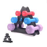 Suporte de rack de armazenamento de haltere de 3 camadas Suporte de torre multinível de peso de mão para Academia Organizações de armazenamento de musculação
