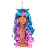 Halloween Party Full Anime Cabello Cosplay Colorful Peluca