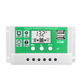 30A 12V 24V Solar Charge Controller Lithium Battery LCD Display USB Charged Solar Panel Charger