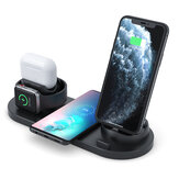 4 In 1 Wireless Charger Phone Charger Watch Ladegerät Ohrhörer Ladegerät Telefonhalter für Smartphones Apple Watch Series Apple AirPods