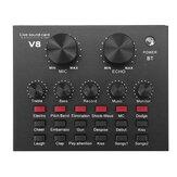 Externer Audiomixer V8 Soundkarte USB-Schnittstelle mit 6 Soundmodi Mehrere Soundeffekte