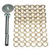 63pcs Tarpaulin Buck Corn Deduction Canvas Ring Repair Tool Kit