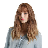 Blonde Unicorn Gradient Brown Gradient Golden Curly Long Full-fledged Fluffy Lady Full Wig Wear Simple Fashion Trend
