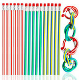 Colorful Magic Bendy Flexible Soft Pencil with Eraser Stationery Student School Office Supplies Random Color