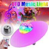 18WE27ブルートゥースRGBLED電球UFOミュージックガレージランプリモコンKTVパーティー照明85-265V