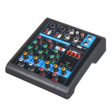 Mini 4 canali USB Portable Audio Mixer bluetooth Live Studio Console di missaggio audio