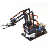 DIY 4DOF Robot Arm 4 Axis Akrylowe obrotowe mechaniczne ramię robota z UNO R3 4szt SG90 Servo