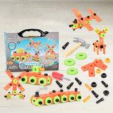 13 / 72Pcs 3D Puzzle DIY Montage Schraubenblöcke Reparaturwerkzeug Satz Lernspielzeug für Kinder Geschenk