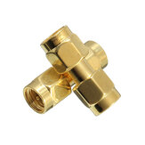 Excellway® CA01 2Pcs Copper SMA Male To SMA Male Plug RF Coaxial Adapter Connector