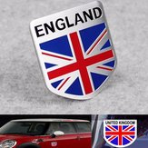 Aluminium Engeland UK Flag Shield Embleem Badge Auto Sticker Decal Decor Universeel Voor Auto Auto