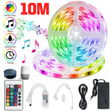 32.8ft RGB LED Strip Lights, Smart Home Alexa Wifi Trådløst kontrollert Light Strip Rope Kit Christmas Decorations Lights Arbeider med Alexa & Assistant med 24key fjernkontroll