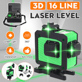 16 Line 360 Horizontal Vertical Cross 3D Green Light Laser Level Self-Leveling Measure Super Powerful Laser Beam