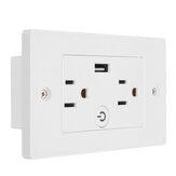 USB Smart Socket Wall Switch Voice Control Timer Switch Remote Control Wall Outlet Switch US Plug Socket