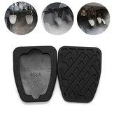 Pair Rubber Car Brake Clutch Pedal Cover Non-Slip Pad for Nissan Qashqai