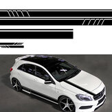 5st Universele Car Body Stripe DIY Sticker Decal Trim Side Hood Achteruitkijkspiegel Vinyl