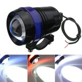12V 30W Motorcycle U3 LED Angel Eye Driving Reflektory przeciwmgłowe Reflektor Hi / Lo Flash Lampa
