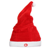 Creative Soft Electric Musical Christmas Hat Size Adjustable Santa Claus Hat