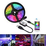 1/3/5 м USB Waterpoof 5050 LED полосы света RGB музыкальная подсветка bluetooth APP Дистанционный рождественские украшения распродажа рождественские огни