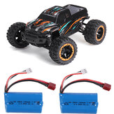 HBX 16889 with Two Batteries 1/16 2.4G 4WD 45km/h Brushless RC Car LED Light Off-Road Truck RTR Model