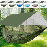 IPRee® 300KG Max Load Camping Hammock And Canopy Portable Nylon Quick Dry Hammock for Hiking Camping Survival Travel