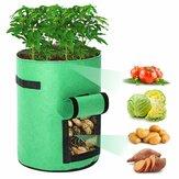 2szt Grow Bags Tvird Sadzarka Doniczka Owoc Kwiat Warzywo Pomidor Ziemniak Torba wielokrotnego użytku