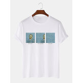 Mens Van Gogh Funny Pattern Short Sleeve Crew Neck 100% Cotton T-Shirts