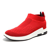 Men Breathable Knitted Casual Shock Absorption Sneakers